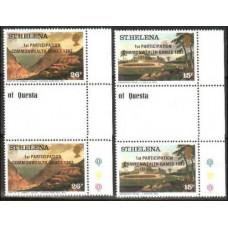 1982 St Helena Mi.365-366Tab Landscape
