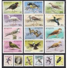 1981 St Kitts Mi.44-61 I Birds / Overprint - SPECIMEN 38,00 €