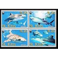 2007 St Kitts Mi.955-58 WWF 4,00 €