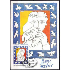 1981 St Thomas Maximum card Pablo Picasso
