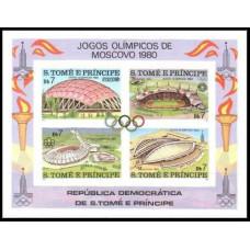 1980 St Tome E Principe Mi.637-640/B43b 1980 Olympiad Moskva 18,00 €