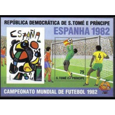 1982 St Tome E Principe Mi.760/B82 1982 World championship on football of Spanien 12,00 €