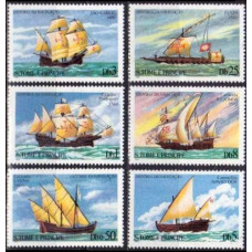 1979 St Tome E Principe Mi.598-603 Ships with sails 13,00 €