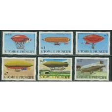 1979 St Tome E Principe Mi.626-631 Zeppelins 12,00