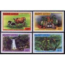 1979 St Lucia Mi.458-461 Fauna and flora 4,80 €