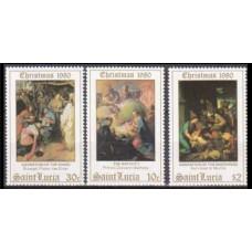 1980 St Lucia Mi.529-531 Paintings 1,70 €