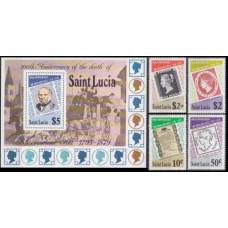1979 St Lucia Mi.467-470+471/B18 Rowland Hill