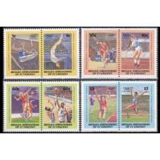 1984 St Vincent & Grenadines-Bequie Mi.34-41Paar 1984 Olympiad Los Angeles 5,50 €
