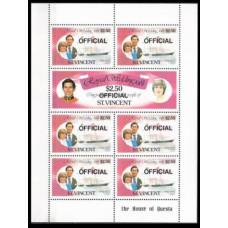1982 St Vincent Mi.D3-4KL Prince Charles and Princess Diana 10,00 €