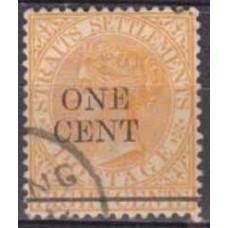 1892 Stratis Settlementes Mi.61 used Victoria