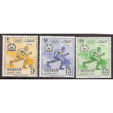 1960 Sudan Mi.163-165 1960 Olympiad Rim 2,00 €