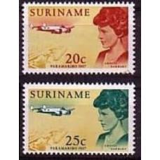 1967 Surinam Mi.521-522 Planes 0,40 €