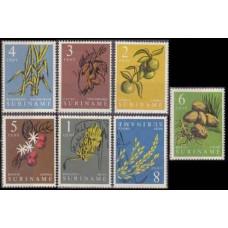 1961 Surinam Mi.389-395 Flowers 2,00 €