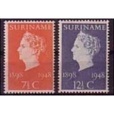1948 Surinam Mi.308-309** 2,00 €