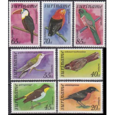 11979 Surinam Mi.781-787 Birds 9,00