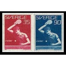 1967 Sweden Mi.578-579 Tennis 2,00 €