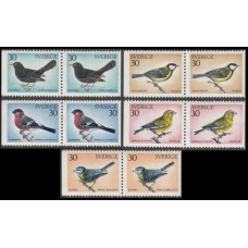 1968 Sweden ( SVERIGE) Mi.692-696Paar Birds 8,00 €
