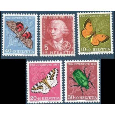 1957 Switzerland Mi.648-52 Insects 8.00 €