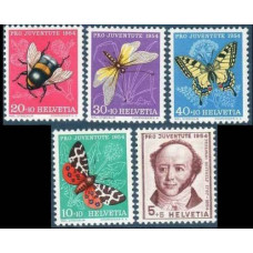 1954 Switzerland Mi.602-606 Insects 13.00 €
