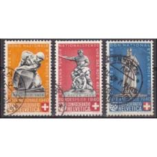 1940 Switzerland Mi.365-367 used Monuments 11.60 €
