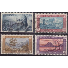 1929 Switzerland Mi.235-238 used Landscape 18.00 €