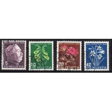 1948 Switzerland Mi.514-17 used Flowers 11.00 €