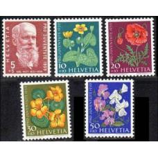 1959 Switzerland(Helvetia) Mi.687-91 Flowers 5,50 €