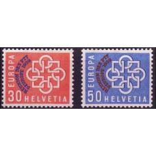 1959 Switzerland(Helvetia) Mi.681-682** Europa 100,00