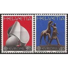 1974 Switzerland(Helvetia) Mi.1029-1030 Europa 1,70