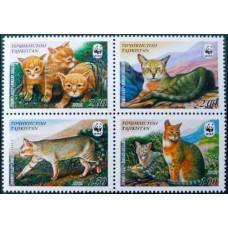 2002 Tadjikistan Mi.208-211VB Cats 8,00 €