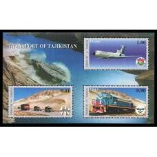 2001 Tadjikistan Mi.194-96/B26 Transport 5,50 €