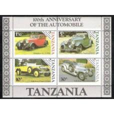 1986 Tanzania Mi.309-312/B53 Automobiles 1,80 €