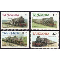 1985 Tanzania Mi.268-271 Locomotives 3,50 €