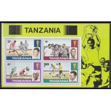 1978 Tanzania Mi.95-98/B11 1978 World championship on football of Argentina 4,50 €