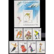 1994 Tanzania Mi.1712/B239 1994 Olympiad Lillehammer 8,20