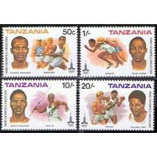 1980 Tanzania Mi.157-160 1980 Olympiad Moskva 7.00