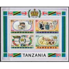1977 Tanzania Mi.87-90/B9 Elizabet II