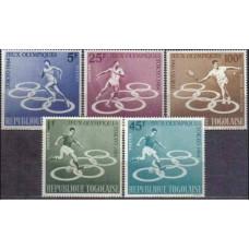 1964 Togo Mi.435-439 1964 Olympiad Tokio 5.50