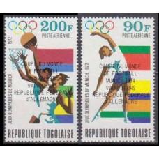 1974 Togo Mi.1066-1067 Overprint # 933-934 3,80