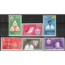 1961 Togo Mi.313-318**/* Scouts 5.00
