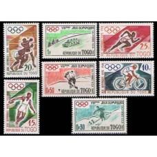 1960 Togo Mi.276-282 1960 Olympiad Sguaw Valley 4.60