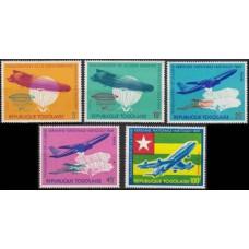 1964 Togo Mi.441-445 Planes 6,50 €