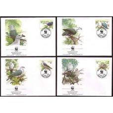 1995 Tokelau Mi.210-213FDC WWF 7,00 €
