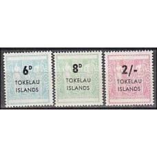 1966 Tokelau Michel S1-3 overprint 7.50 €