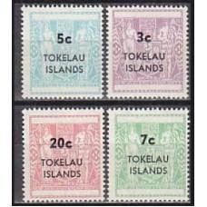 1967 Tokelau Michel S4-7 overprint 6.00 €