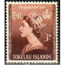 1953 Tokelau Mi.5** Elizabet II 5.00