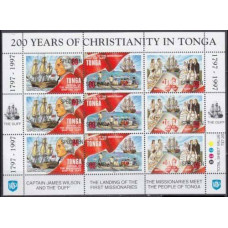 1997 Tonga Mi.1474-1476KL Ships with sails (SPECIMEN) 25,00