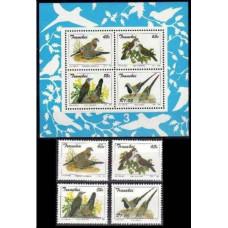 1993 Transkei Mi.311-314+B11 Birds 14,50 €