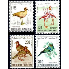 1966 Tunisia Mi.655-658 Birds of Tunisia 25.00 €