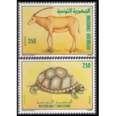1989 Tunisia Mi.1194-1195 Fauna 2,80 €